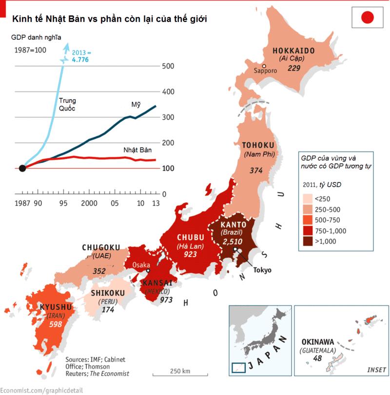 bản đồ kinh tế nhật bản