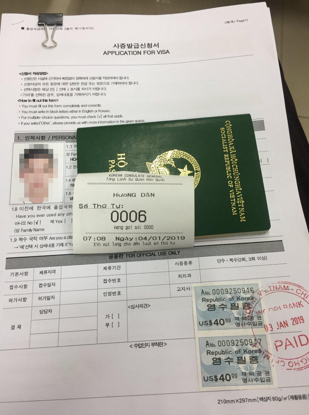 thời gian xét duyệt visa hàn quốc 5 năm