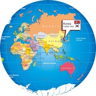 vị trí hàn quốc trên bản đồ thế giới